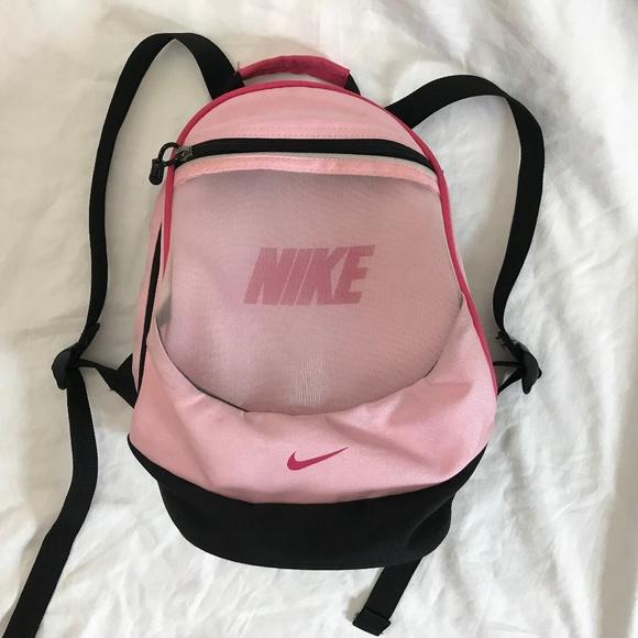 32967b55c1ed Nike Pink Black Mesh front zip pocket Backpack. M_5bb6217b9fe4866b512314d7